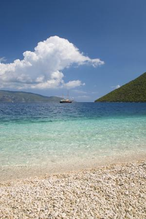 View from Pebble Beach across Antisamos Bay, Sami, Kefalonia (Kefallonia by Ruth Tomlinson
