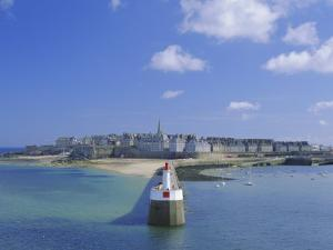 View from Sea to the Walled Town (Intra Muros), St. Malo, Ille-Et-Vilaine, Brittany, France, Europe by Ruth Tomlinson