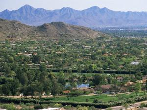 View Over Paradise Valley from the Slopes of Camelback Mountain, Phoenix, Arizona, USA by Ruth Tomlinson