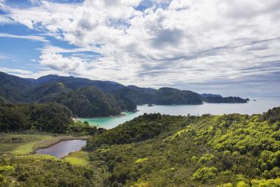 View over Torrent Bay from the Abel Tasman Coast Track, Abel Tasman National Park, near Marahau, Ta