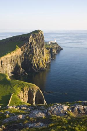 View to the Clifftop Lighthouse at Neist Point by Ruth Tomlinson