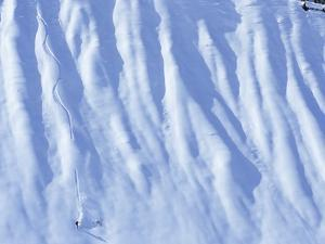Man Snowboarding in the Backcountry of Roger's Pass, British Columbia, Canada. by Ryan Creary