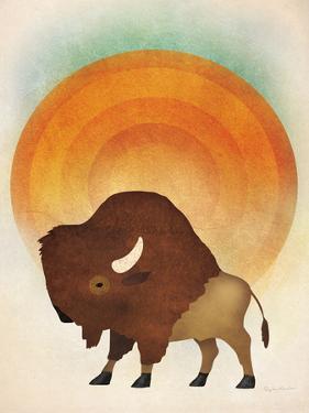 Blazing Sun Bison by Ryan Fowler