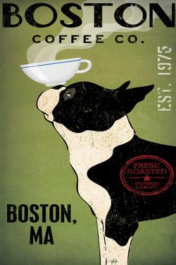 Boston Terrier Coffee Boston by Ryan Fowler