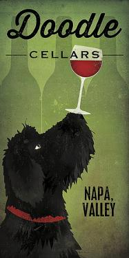 Doodle Wine II Black Dog by Ryan Fowler