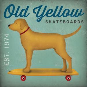 Golden Dog on Skateboard no Words by Ryan Fowler