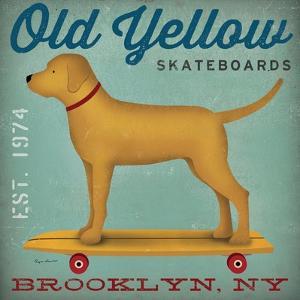 Golden Dog on Skateboard by Ryan Fowler