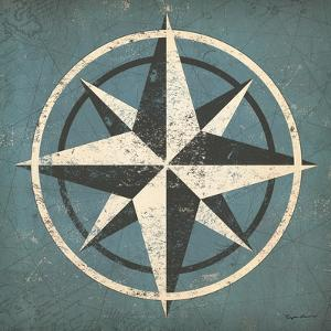 Nautical Compass Blue by Ryan Fowler