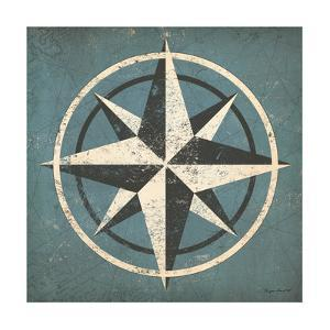Nautical Compass Blue by Ryan Fowler