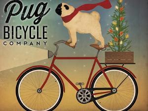 Pug on a Bike Christmas Crop by Ryan Fowler