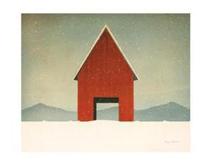 Red Barn Winter by Ryan Fowler