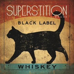 Superstition Black Label Whiskey Cat by Ryan Fowler