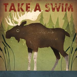Take a Swim Moose by Ryan Fowler