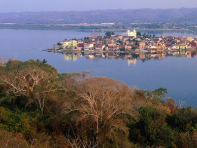 City on Island, Lago De Peten Itza, Flores, Guatemala