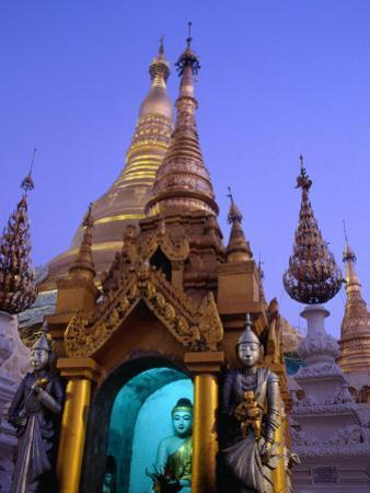 Detail of Buddha Statue at Schwedagon Pagoda, Bagan, Myanmar (Burma)