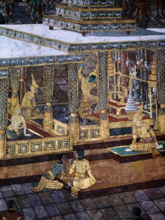 Detail of Mural in the Grand Palace, Bangkok, Thailand