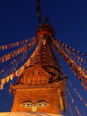 Eyes of the Swayambhunath Stupa, Swayambhunath, Nepal