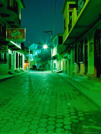Street at Night, Flores, Guatemala