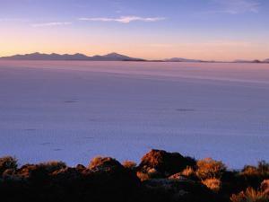 Sunrise Across the Salt Flats, Salar De Uyuni, Bolivia by Ryan Fox
