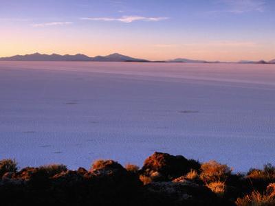 Sunrise Across the Salt Flats, Salar De Uyuni, Bolivia