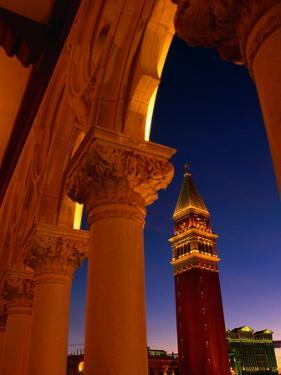 Torre Del'Orologio Framed by Facade of the Palazzo Ducale, Venetian Hotel and Casino, Las Vegas by Ryan Fox