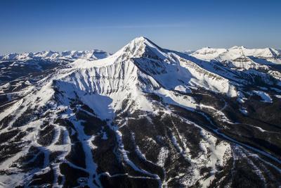 Lone Peak Seen From The Air Big Sky Resort, Montana