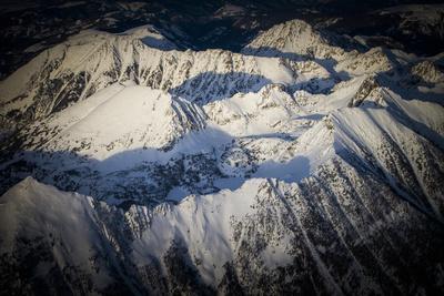 Spanish Peaks Mountain Range Nearby Big Sky Resort, Montana