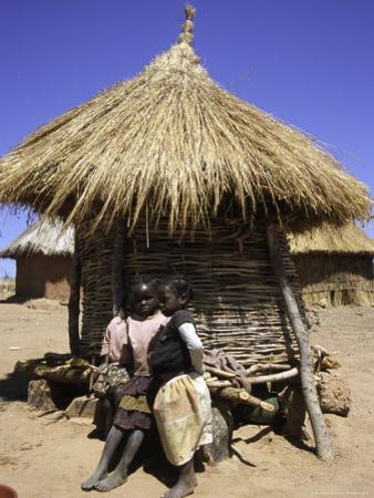 Children by Straw Huts, South Africa by Ryan Ross