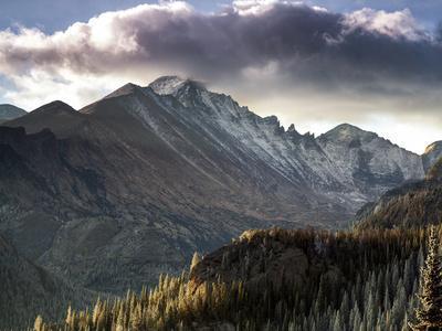 Longs Peak in Rocky Mountain National Park Near Estes Park, Colorado.