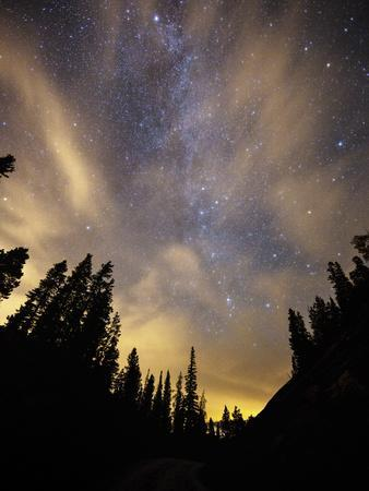 The Night Sky Above the Town of Breckenridge, Co.