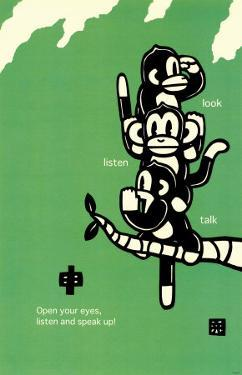 Three Wise Monkeys by Ryo Takagi