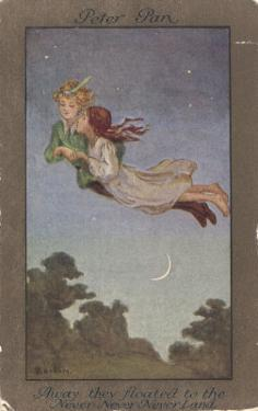 Peter Pan and Wendy Fly to Never-Never Land by S. Barham