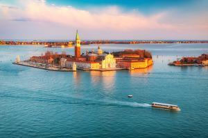 Aerial View at San Giorgio Maggiore Island, Venice, Italy by S Borisov