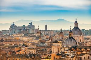 View of Rome from Castel Sant'angelo by S Borisov