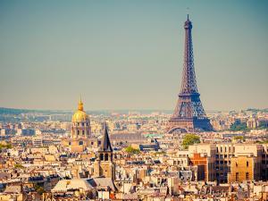 View on Eiffel Tower, Paris, France by S Borisov