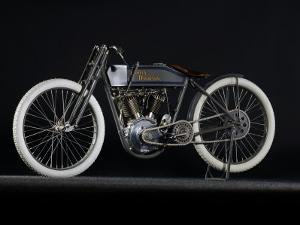 1914 Harley Davidson Board Track Racer by S. Clay