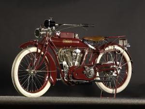 1915 Indian Big Twin by S. Clay