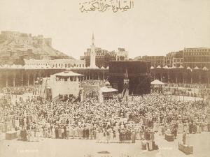 Praying around the Kaaba, Mecca, 1900 by S. Hakim