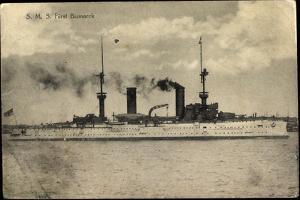 S.M.S. Fürst Bismarck, Kriegsschiff in Fahrt, Rauch