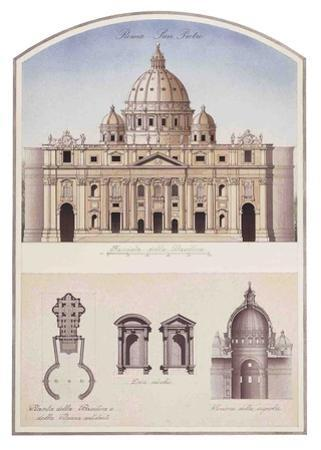 S. Pietro (St. Peter'S Basilica In Vatican) Architectural Details