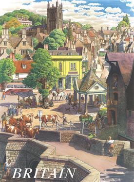 Britain Village, c.1950s by S.R. Badmin