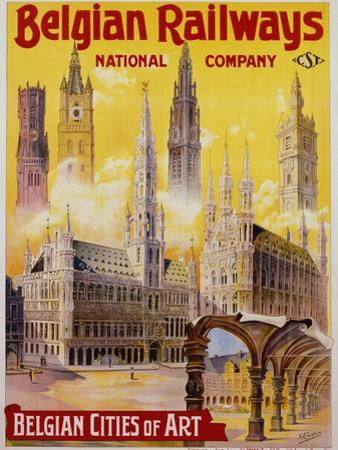 Belgian Railways - Belgian Cities of Art Poster