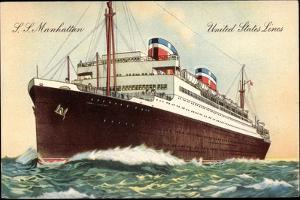 S.S. Manhattan, United States Lines, Steamer