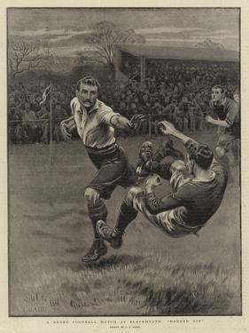 A Rugby Football Match at Blackheath, Handed Off by S.t. Dadd