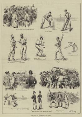 England V Australia at Lord's by S.t. Dadd