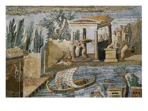 Detail of Palestrina Mosaic by S. Vannini