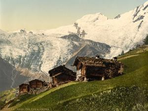 Saas Fee, Alpine View, Valais, Alps Of, Switzerland, C.1890-C.1900