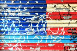 American Flag Graffiti by Sabine Jacobs