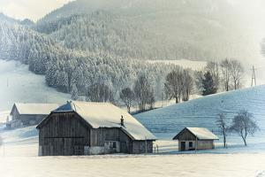 An Old Farm in the Winter, Austria, Europe by Sabine Jacobs