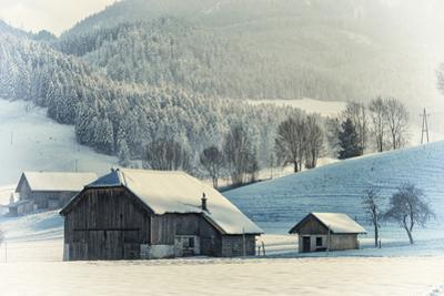 An Old Farm in the Winter, Austria, Europe